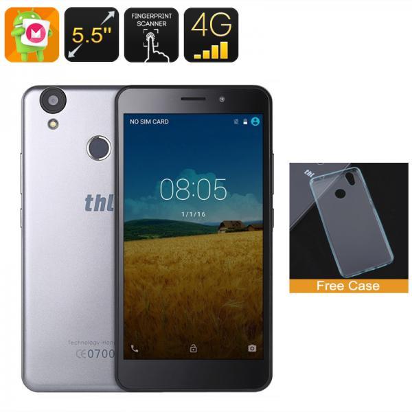 THL T9 Smartphone - 5.5 Inch HD Screen, 4G, Android 6.0, 2GB RAM, Fingerprint Scanner, 8MP Camera, 3000mAh Battery