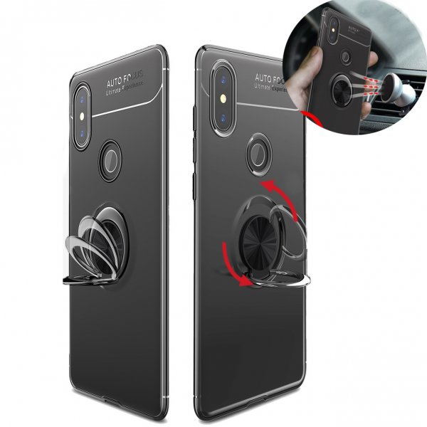 Bakeey 360 Adjustable Metal Ring Kickstand Magnetic PC Protective Case for Xiaomi Mi MIX 2S