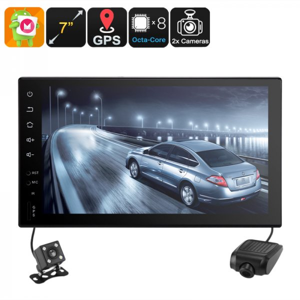 Universal 2 DIN Car Stereo - Android 6.0, WiFi, CAN BUS, GPS, Octa-Core CPU, 2GB RAM, 7 Inch HD, Car DVR, Rear View Camera