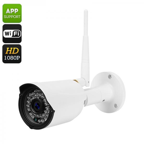 Full HD Wireless IP Camera - 1/2.5 Inch CMOS, Full HD, IR CUT, Motion Detection, 1080P, Remote Phone Support, 30M Night Vision