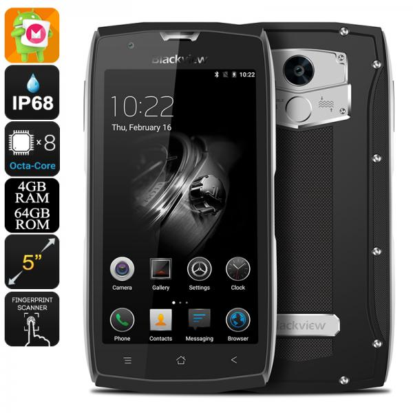 HK Warehouse Blackview BV7000 Pro Android Phone - Android 6.0, Octa-Core CPU, 4GB RAM, IP68, Two-IMEI, 4G (Silver)