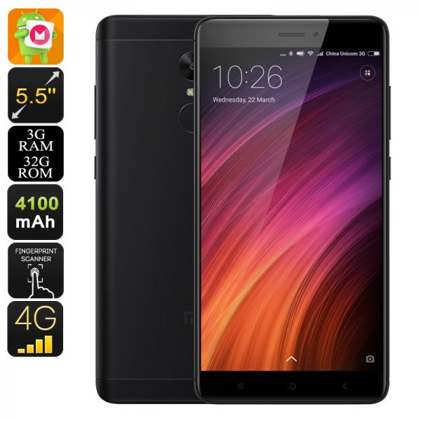 Android Smartphone Xiaomi Redmi Note 4X - 5.5 Inch FHD, SnapDragon 625 CPU, 3GB RAM, 2GHz, Fingerprint, Dual-IMEI (Black)