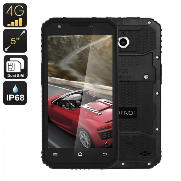 NO.1 M3 Rugged Android Phone - IP68, Quad-Core CPU, 2GB RAM, 5 Inch Display, 4G, Dual-IMEI, 13MP Camera (Black)