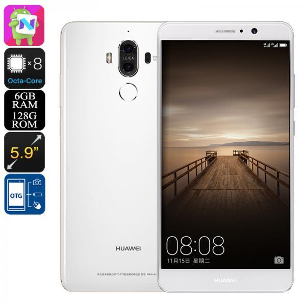 Huawei Mate 9 Android 7.0 Smartphone - Octa-Core CPU, 2.4GHz, 6GB RAM, 128GB Internal Memory, Dual-Camera, Dual-IMEI (White)