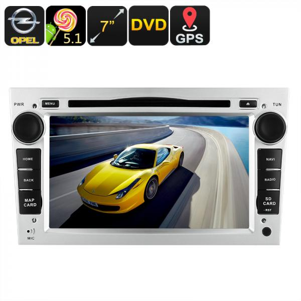 2 DIN Opel Car DVD Player - GPS, 7 Inch Touch Screen, CAN-BUS Decoder, 3G Dongle Support, Wi-Fi, Android 5.1 OS, Region Free DVD