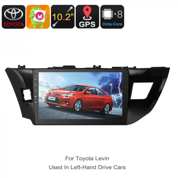 One DIN Car Stereo - For Toyota Levin, 10.2 Inch, HD Display, Android 6.0, GPS, Octa-Core, 2GB RAM, WiFi, 3G, CAN BUS, Bluetooth