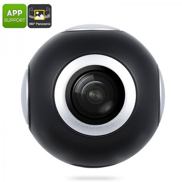 Android 360 Camera - 360-Degree VR Video, Panoramic Pictures, USB-C, Micro USB, 2048x1024p, Live Broadcasting, Social Sharing