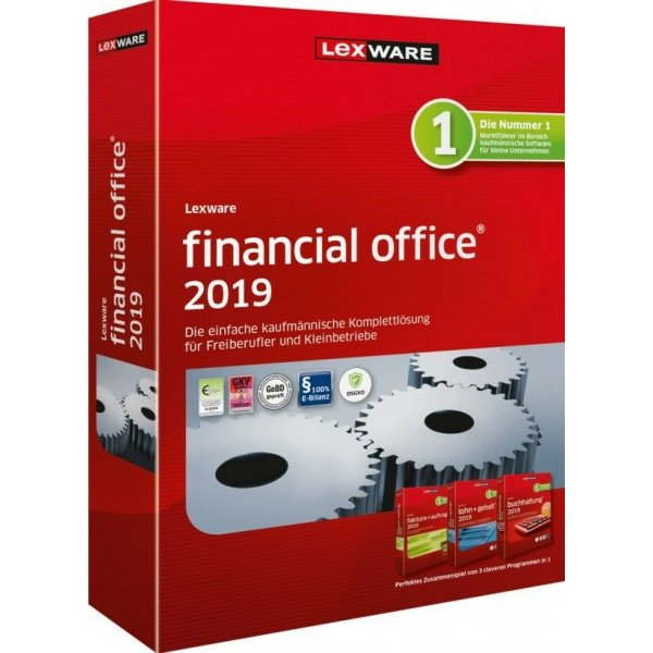 Lexware Financial Office 2019, DVD-Box, 365-Tage Update-Service