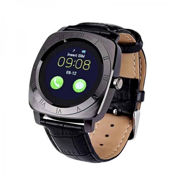 Iradish X3 Smartwatch - 1.33 Inch IPS Display, Integrated Camera, 240x240 Resolution, 32GB External Memory, Pedometer (Black)