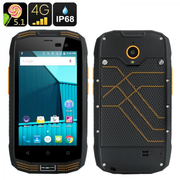 AGM A2 Rugged Smartphone - 4 Inch Screen, IP68, Android 5.1, 4G, Bluetooth 4.0, 2GB RAM + 16GB Memory