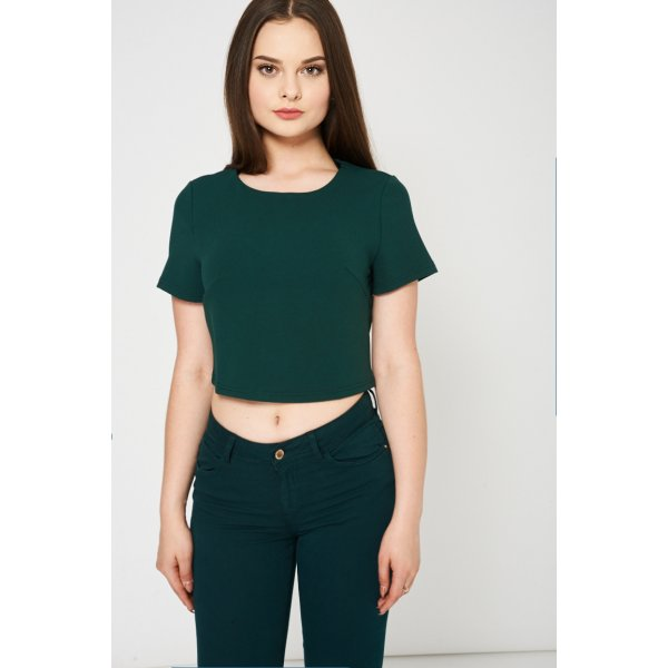 Zipper Closure Green Crop 9006 -- 95% Polyester 5% Elastane --- select 'color' and 'size' in order remarks