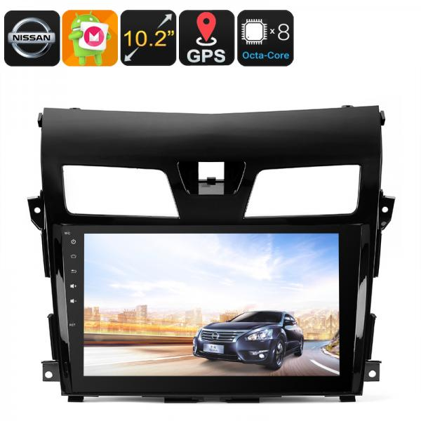 2 DIN Android Media Player - For Nissan TEANA, 10.2 Inch HD Display, 3G Dongle Support, GPS, Android 6.0, CAN BUS, Octa-Core CPU