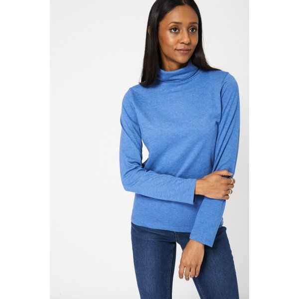 Mid Blue Roll Neck 9006 Ex-Branded -- 100% Cotton --- select 'color' and 'size' in order remarks