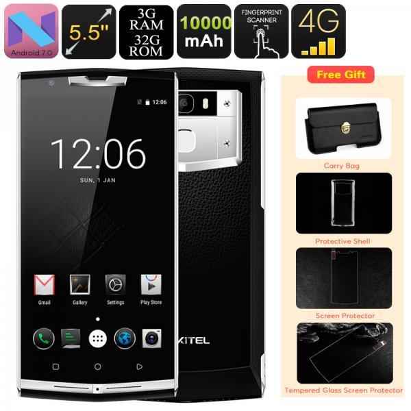 HK Warehouse Android Smartphone Oukitel K10000 Pro - 10000mAh, Dual-IMEI, 4G, OTG, Android 7.0, Octa-Core CPU, 3GB RAM, 1080p