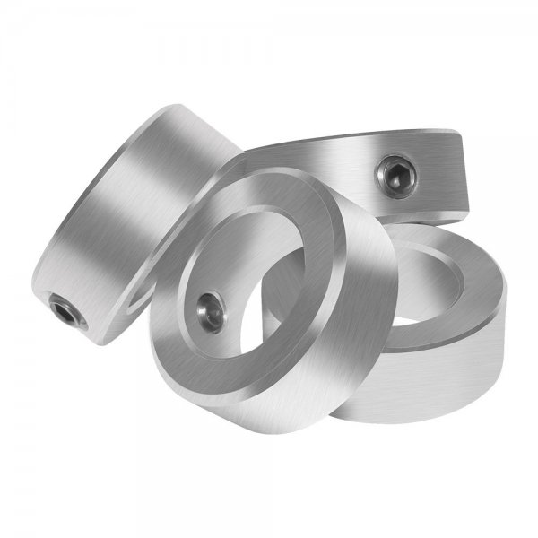 Solid Steel Style Zinc Plated Set Screw Shaft Collars