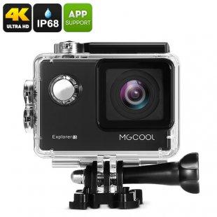 MGCOOL Explorer 1S Action Camera - 4K (3840x2160), Sony Image Sensor, Anti Shake, Wi-Fi, iOS + Android APP