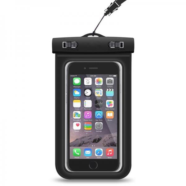 Waterproof Smartphone Case - For 6.0-Inch Smartphones, 100% Waterproof, Dustproof, Sandproof, Neck Hanging Design