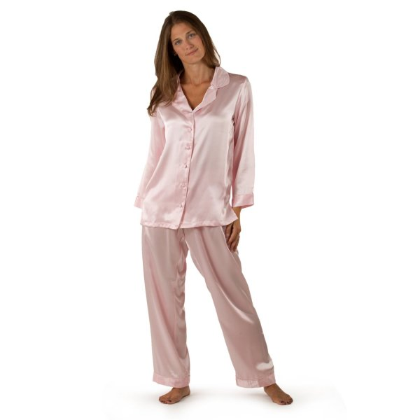 Silk Nightgown and Robe Set
