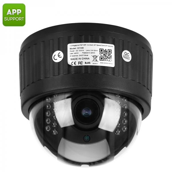 Waterproof PTZ Security Camera - 1/3 Inch CMOS, IP66, 960P, 4x Zoom, Auto Focus Lens, 20m Night Vision, IR Cut, App Support