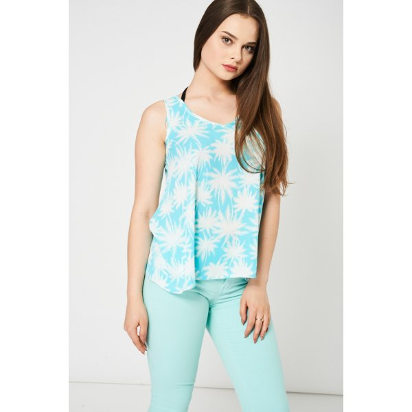 Tropical Print Vest 9006 Ex-Branded -- 100% mix fibres --- select 'color' and 'size' in order remarks