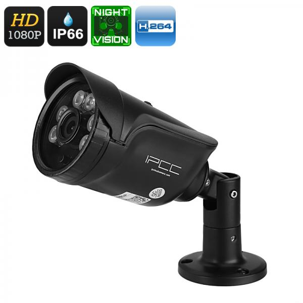 1080p Security Camera - 25m Night Vision, IR Cut, Motion Detection, PoE, Mobile Phone Support, CMOS Sensor, 73-Degree View