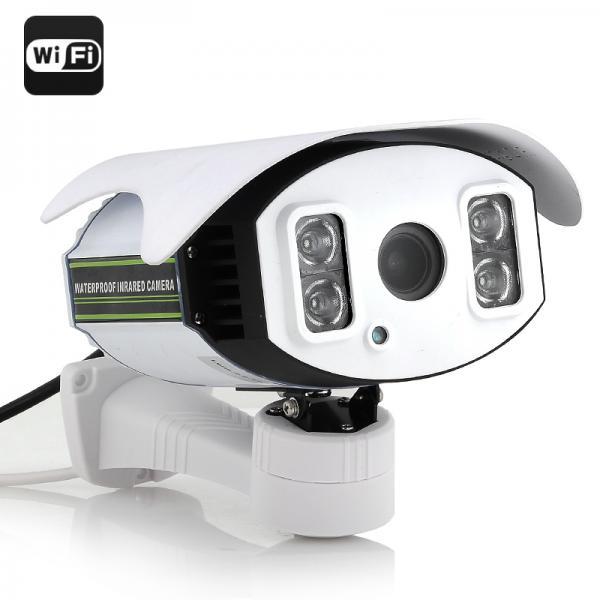 HD IP Security Camera - 1/4 Inch CMOS, 720p, 4x Zoom, H.264, 4x SMD IR Array LED Light, 100M Night Vision, Wi-Fi