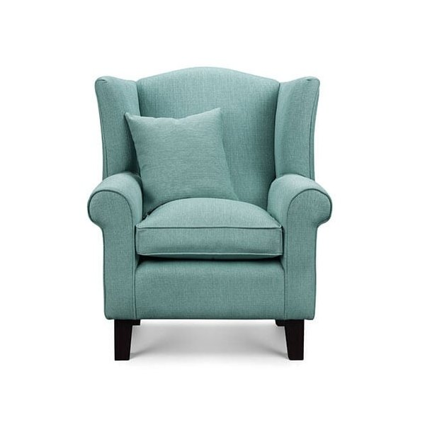 Artemis Duck Egg Fabric Wingback Chair