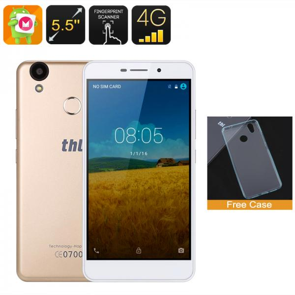 THL T9 Pro Smartphone - Dual-IMEI, 4G, Android 6.0, Fingerprint, 5.5 Inch HD Display, Quad-Core CPU, 2GB RAM (Gold)