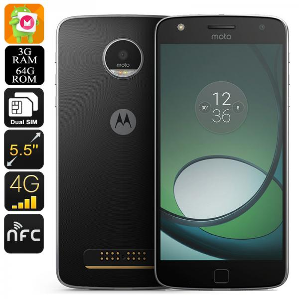 Lenovo Motorola Moto Z Play XT1635 Smartphone - Octa-Core CPU, 3GB RAM, 2TB External Memory, Dual-IMEI, Android 6.0, 4G (Black)