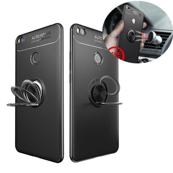 Bakeey 360 Adjustable Metal Ring Kickstand Magnetic PC Protective Case for Xiaomi Mi MAX 2