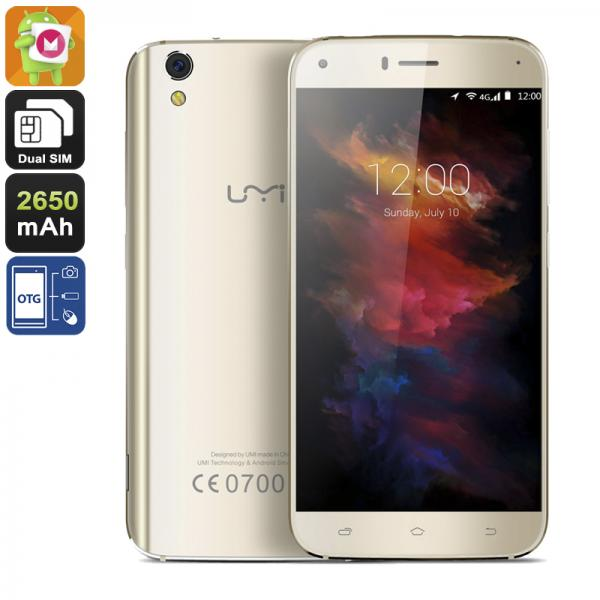 HK Warehouse UMi Diamond X Smartphone - Android 6.0, Quad-Core CPU, 2GB RAM, 4G, Dual-IMEI, OTG, 5-Inch Display (Gold)