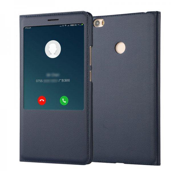 Flip PU Leather Smart View Window Case For Xiaomi Mi MAX