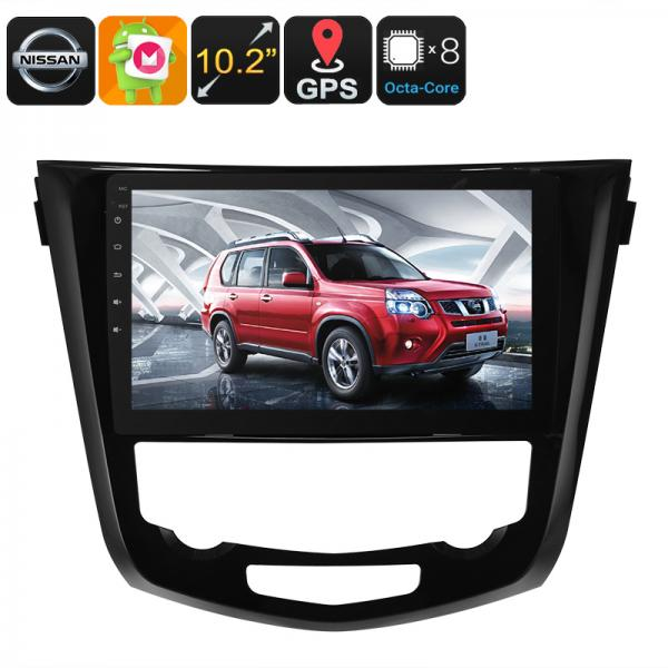 1 DIN Car Stereo - For Nissan X Trail, Android 6.0, Bluetooth, WiFi, 3G Dongle Support, GPS, CAN BUS, Octa-Core CPU, 2GB RAM