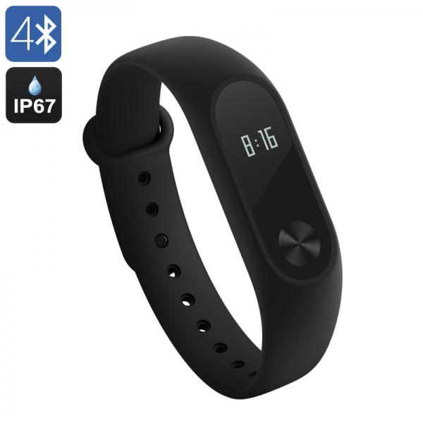 Xiaomi Mi Band 2 Heart Rate Monitor - IP67, Bluetooth, OLED Touch Button, Notifications, Sleep Monitor, Sport Monitor