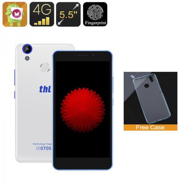 THL T9 Pro Smartphone - 5.5 Inch HD Display, Android 6.0, 4G, Dual-IMEI, Fingerprint, Quad-Core CPU, 2GB RAM (White)