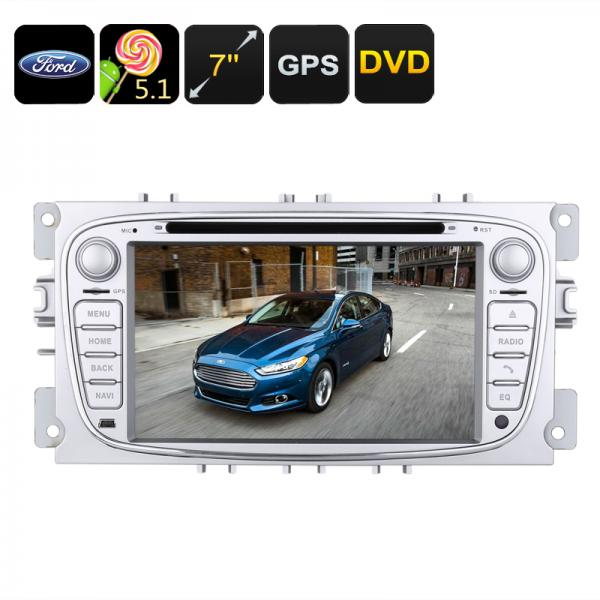 2 DIN Car DVD Player - Ford Mondeo (2007 to 2011 Models), Android 5.1, GPS, 7 Inch Screen, CAN Bus, Region Free DVD