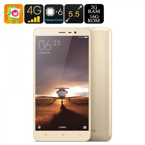 Xiaomi Redmi Note 3 Pro - Dual-Band Wi-Fi, Snapdragon 650 CPU, Adreno 510 GPU, Dual-SIM, 4G, 2GB RAM, 16MP Camera (Gold)