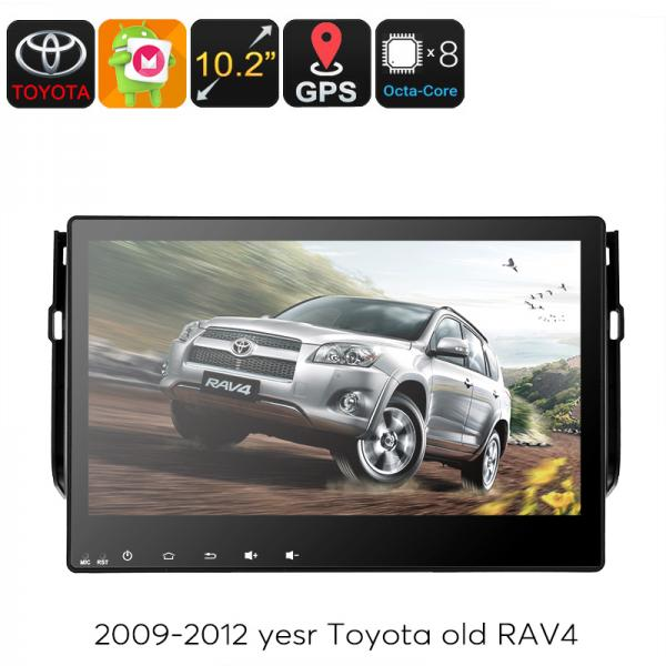 2 DIN Car Stereo Toyota RAV4 - 10.2 Inch Touchscreen, Octa Core CPU, Android OS, GPS Navigation, Bluetooth, 3G Dongle Support