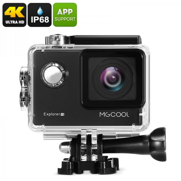 MGCOOL Explorer 1S Action Camera - 4K (3840x2160), Sony Image Sensor, Anti Shake, Wi-Fi, iOS + Android APP