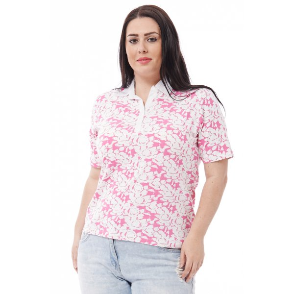 Open Neck Patterned T-9006 Avilable in Plus Sizes -- 100% mix fibres --- select 'color' and 'size' in order remarks