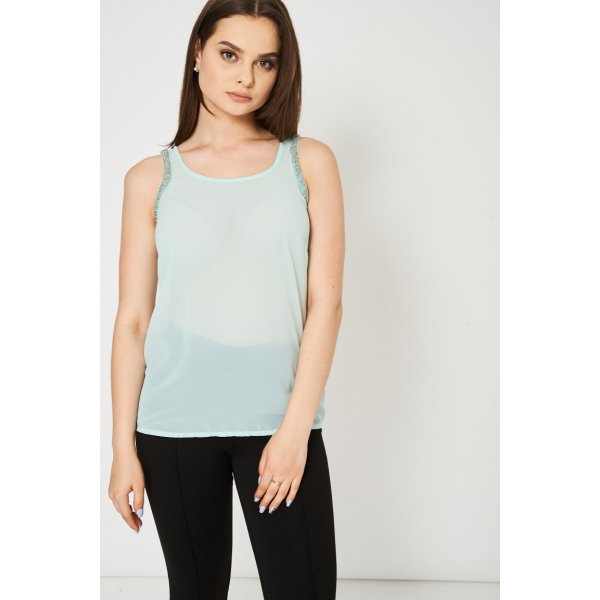 Mint Green Embellished 9006 Ex-Branded Available In Plus Sizes -- 100% Polyester --- select 'color' and 'size' in order remarks