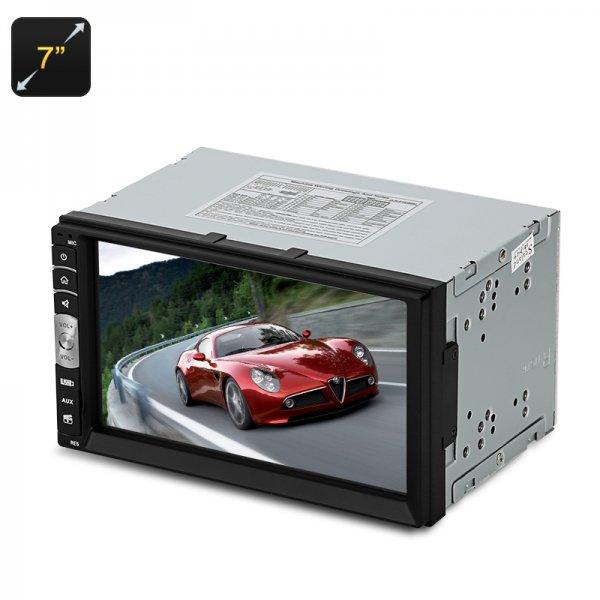 2 Din Car Stereo + MP5 Player - 180 Watt, Bluetooth, AM / FM Radio, AUX In, USB, Micro SD, 7 Inch Screen
