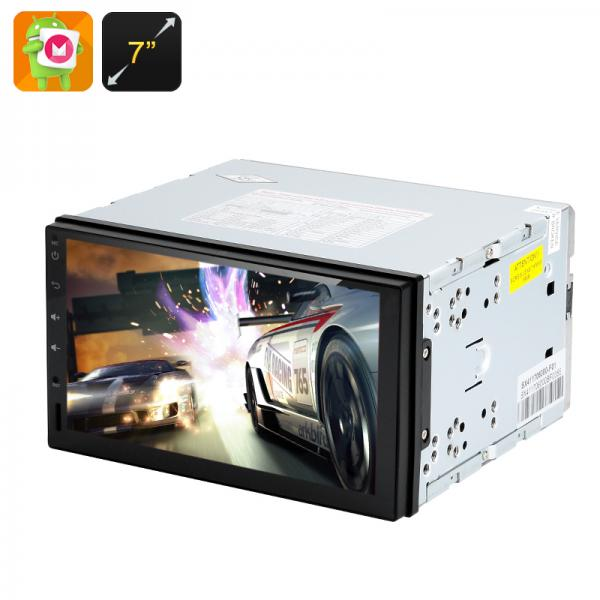 2 DIN Android 6.0 Media Player - 7 Inch Touch Screen, GPS, 3G Support, Hands Free