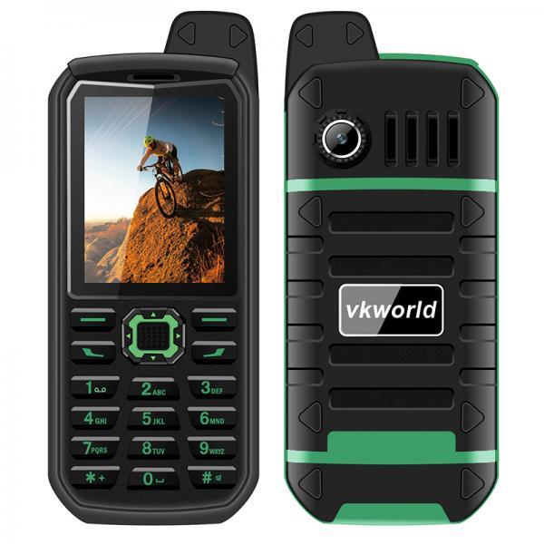 VK World Stone V3 Plus Rugged Elderly Phone - Bluetooth, Dual-IMEI, 4000mAh, FM Radio, IP54 (Green)