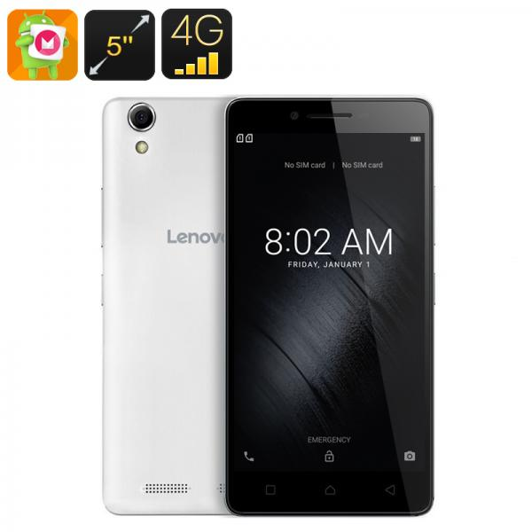 Lenovo K10 Android Smartphone - 5-Inch Display, Android 6.0, 128GB External Memory, Quad-Core CPU, 2GB RAM (White)