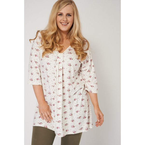 Floral Knot Front Detail 9006 -- 92% Viscose 8% Elastane --- select 'color' and 'size' in order remarks