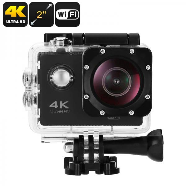 4K Sports Camera - Sony 179 Sensor, 30fps, 170-Degree Lens, 16MP, IP68 Case, HDMI Out, 2-Inch Display, App Support
