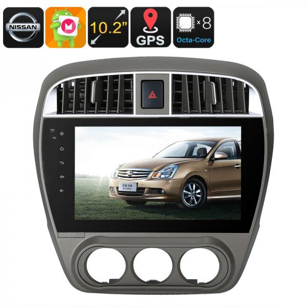 One DIN Android Media Player - Android 6.0, 10.2 Inch, For Nissan Cars, WiFi, 3G, CAN BUS, Octa-Core, 2GB RAM, GPS, HD Display