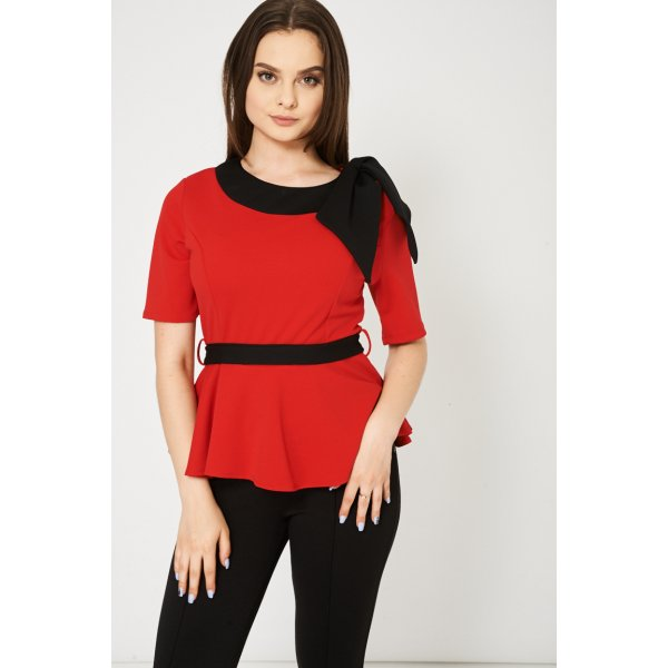 8999 Sleeve 302ed 9006 In Red Available In Plus Sizes -- 95% Polyester 5% Elastane --- select 'color' and 'size' in order remarks