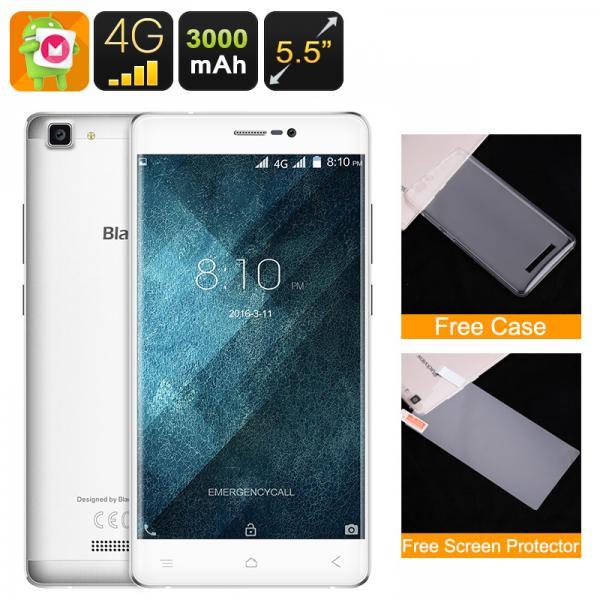 HK Warehouse Blackview A8 Max Smartphone - Quad Core CPU, 2GB RAM, 5.5 Inch HD Display, Android 6.0, 4G, Dual SIM (White)